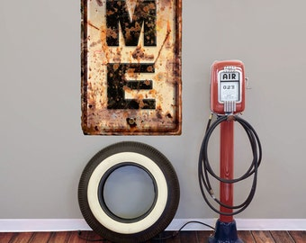 Maine ME State Abbreviation Weathered Wall Decal #52629