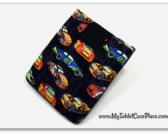 Tablet Case, iPad Cover, Car Muscle, Sport Race Car,  Kindle Fire Cover, 7, 8, 9, 10 inch Tablet Sleeve, Cozy, Handmade, FOAM Padding