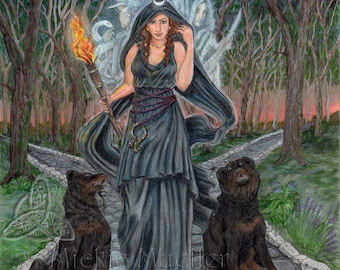 Goddess Hecate Art Print, Open Edition