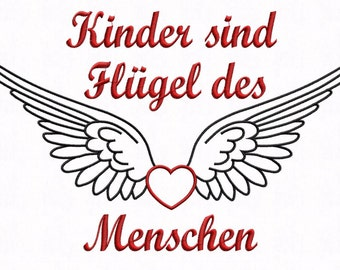 Embroidery file * children are wings....... * 3 Sizes