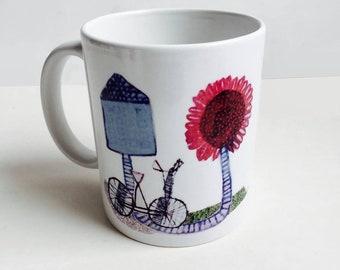 left handed, colorfull mug