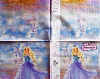 TOWEL in paper Barbie and the magical horse #E039