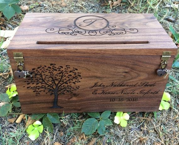 Wedding Card Box Rustic Wedding Wedding Gift Card Box