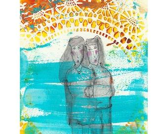 Duet - art print