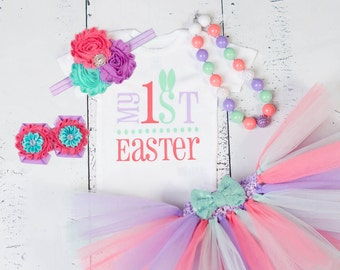 Baby Girl Easter Outfit,My First Easter Outfit, Easter Tutu Set, Bunny Easter Outfit, Easter Dress,First Easter Outfit