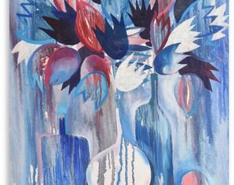 Blue Still Life - original artwork, wall art
