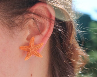 Baja Starfish Earrings, Mermaid Earrings and Accessories, Beach Weddings, Aquamarine