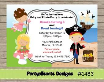 Pirate fairy invite Etsy