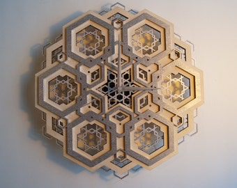 Time 01 - / Sacred Geometry Clock