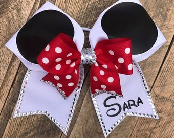 Personalized Minnie Mouse Bow with extra Bling