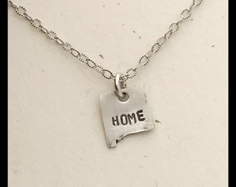 New Mexico HOME Necklace Sterling Silver