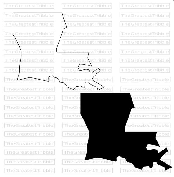 Louisiana State Map SVG PNG JPG Vector Graphic Clip Art