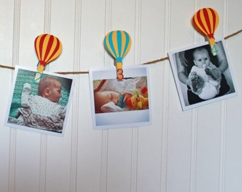 Hot Air Balloon First Birthday, Birthday Party Monthly Photo Banner, N-12 Pictures