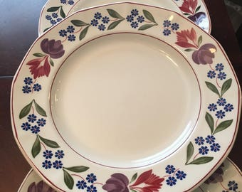 Vintage Old Colonial Adams Set of 4 Dinner Plates - Ironstone - Made in England