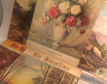 """Lot of six vintage """"Die Hausfrau"""" magazines published in Milwaukee Wisconsin"""