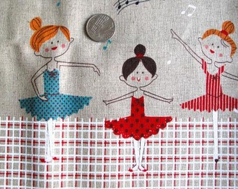 Ballet DANCERS Japanese/French Fabric