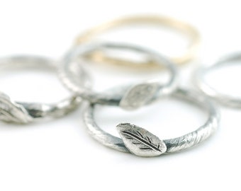 Vine and Leaf Ring - made to order