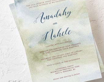 Morning Forest - Wedding Invitations (Style 13774)