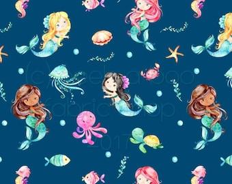 Mermaid Leotard, Summer Leotard, Birthday Leotard, Dance Leotard, Spring, Leotard for Girls, Bodysuit, Ballet, Mermaid Friends Leotard
