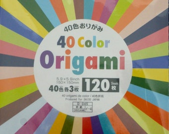 120 Sheets 40 Colours Origami Folding Paper