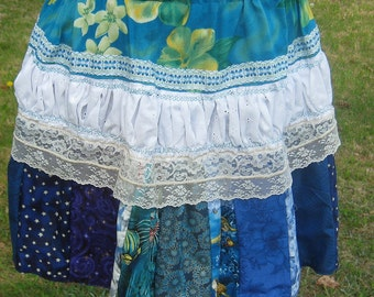Lolita Lace Shirred Patchwork Skirt