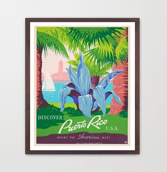 Puerto Rico Poster - WPA Poster - National Park Art - Puerto Rico Art - Puerto Rican - Puerto Rico Wall Art - Puerto Rico WPA - WPA Art