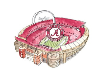 University of Alabama Bryant–Denny Stadium print