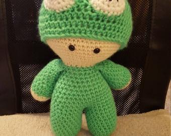 Froggy big head doll