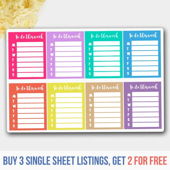 To do list stickers to do list planner stickers erin