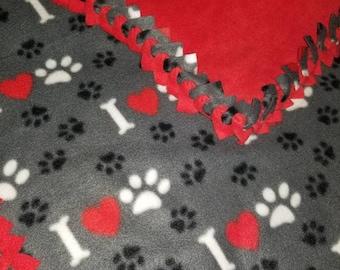 Pet fleece blankets.