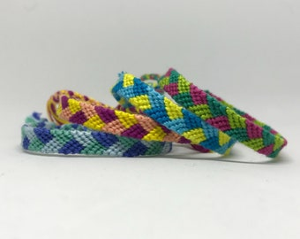 Colorful Customizable Knotted Braid Friendship Bracelet