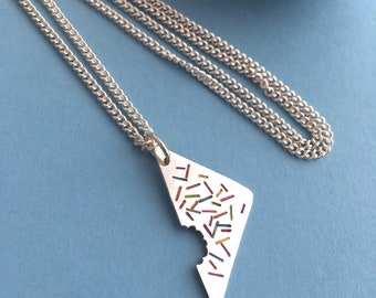 Fairy Bread sprinkles pendant necklace