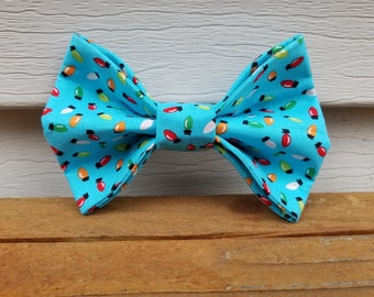 Holiday Lights Bow Tie - Bright Bow Tie - Dog Bow Tie - Christmas Bow Tie - Dog Accessory