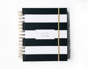 2018 planner 2018 personalized planner 2018 weekly planner custom planner 2018 daily planner planner agenda wedding planner hard cover