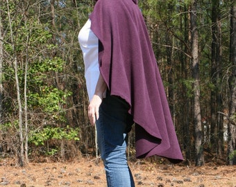 Aubergine Hooded Cape Tyrian Purple Cloak Garb Cosplay Costuming