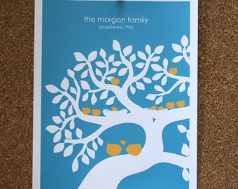 Custom Family Tree Art Print
