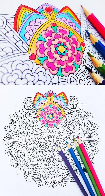 Großzügig Mandala Färbung Druckbare Seiten Ideen - Beispiel Business ...