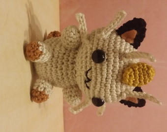 Pokemon Amigurumi Mauzi / Meowth versandfertig / ready to ship