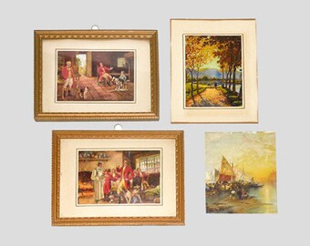 Vintage Pictures and Frames, Vintage Frame, Vintage Art, Small Wood Frame, Wood Frames, Frame, Ephemera, Collectible FrameNewYorkMarketplace