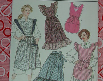 Vintage Pattern 1989, Simplicity Crafts Wardrobe of Aprons No.9433,  All Sizes