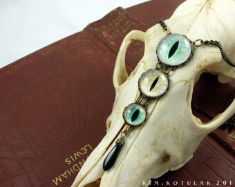 The Witch's Familiar -- Handmade Brass Necklace