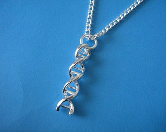 Double Helix Necklace DNA Charm Biology Student Gift