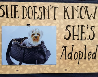 rescue photo frame, dog lover gift, dog photo frame, rescue dog, adopted dog, adopted pet, pet rescue gift, new puppy, pet lover,dog lover
