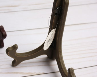 """6"""" wooden easel bronze, plate holder to display scrapbook, plate holder, wooden easel, bronze easel"""