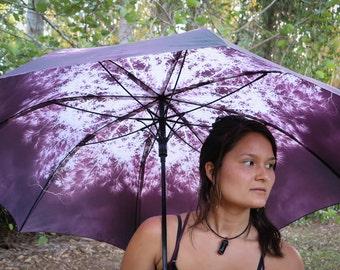 PURPLE RAIN Crystalotus print Umbrella, shade umbrella, wedding umbrella, flower of life, festival umbrella, parasol, beach umbrella