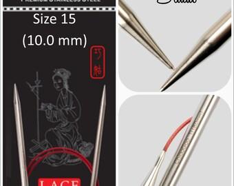 US 15 (10.0mm) Chiaogoo Red Lace Circulars - Choice of Length