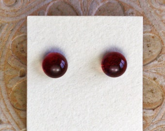 Dichroic Glass Earrings, Fuschia  DGE-1356