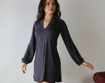 bamboo sleep shirt in tunic length - Cathedral -  bamboo sleepwear and lingerie range - made to order