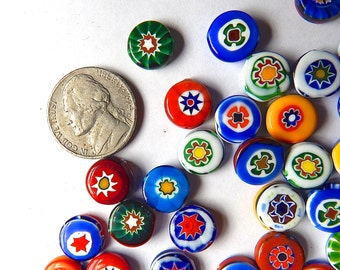 Vintage Millefiori Glass Beads (10) or Buy More and Save