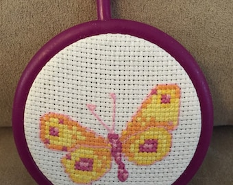 Finihsed Mini Butterfly Cross Stitch